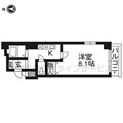 プレサンス京都二条城前[2階]の間取り