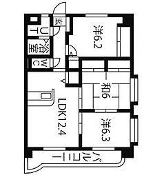 リリアコート[5階]の間取り