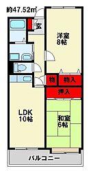 ラ・セール石崎[305号室]の間取り