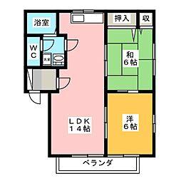 岩昇ハイツB[2階]の間取り