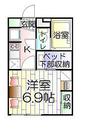 多摩ぶらーま[3階]の間取り