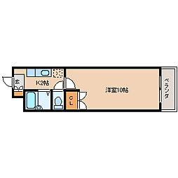 第9エルザビル[4階]の間取り
