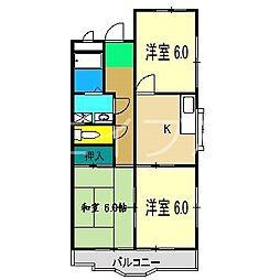 ハイツハピィバリーIIA棟[3階]の間取り