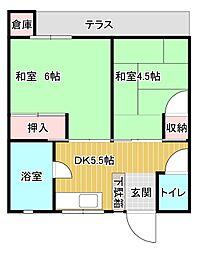 浦田荘[101号室]の間取り