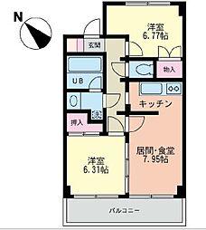 フレックス湘南石川[4階]の間取り