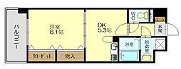 アベンシス丸林[4階]の間取り