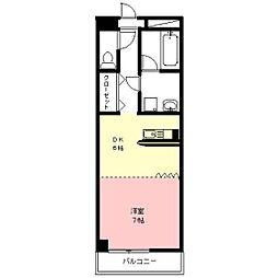 名鉄羽島線 新羽島駅 徒歩6分の賃貸アパート 4階1DKの間取り