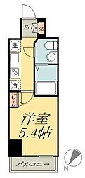京成本線 堀切菖蒲園駅 徒歩5分の賃貸マンション 6階1Kの間取り