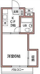 ハイムピア3[2階]の間取り