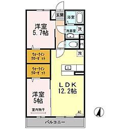 東京都練馬区南田中1丁目の賃貸アパートの間取り