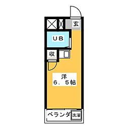 幸川マンション 縁[4階]の間取り