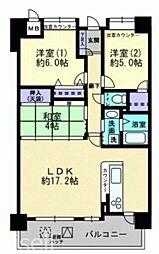 広島県広島市佐伯区三宅2丁目の賃貸マンションの間取り