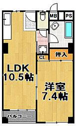 千鳥橋団地1号棟[6階]の間取り