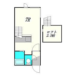北海道札幌市厚別区厚別南1丁目の賃貸アパートの間取り