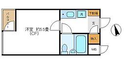 東京都杉並区西荻南1丁目の賃貸マンションの間取り