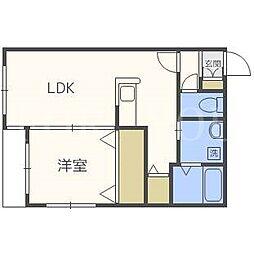 北海道札幌市豊平区平岸四条7丁目の賃貸マンションの間取り