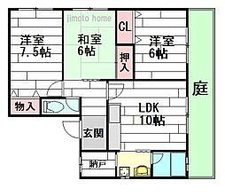 コーポSASAKAWA[1階]の間取り