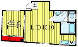 谷口ビル 3階1LDKの間取り