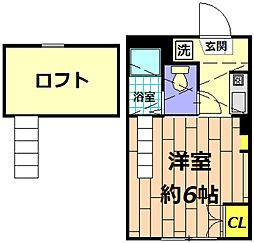 ガーデンコート豊田[1階]の間取り