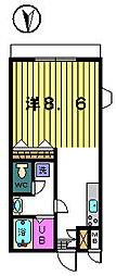 ベルグラン吉田B[1−A号室]の間取り