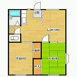 ファミーユ赤澤[2階]の間取り