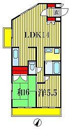 メゾン竹ヶ花[2階]の間取り