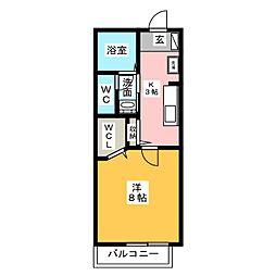 シャーメゾン浄水II[1階]の間取り
