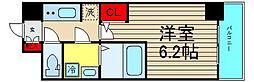 エスレジデンス南堀江[15階]の間取り