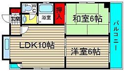 サーティシックス桜川[2階]の間取り