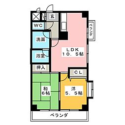 アーデン福江[7階]の間取り