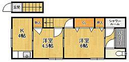 キヨヤマハウス[205号室]の間取り