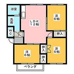 グラウンド伊倉 A棟[1階]の間取り