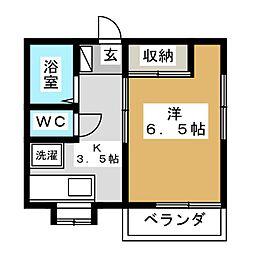 メゾンII727[1階]の間取り