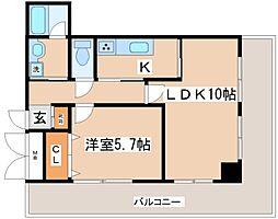 兵庫県神戸市兵庫区上沢通1丁目の賃貸マンションの間取り