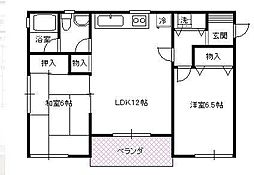 浜崎フラット[2階]の間取り