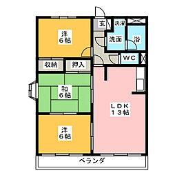 リーダークランツ93[3階]の間取り