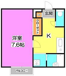 アムールmizu[2階]の間取り