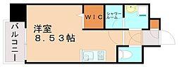 エンクレスト天神LIFE 12階ワンルームの間取り