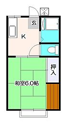 第二パナハイツイノウエ[2階]の間取り