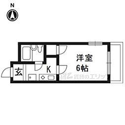 JR東海道・山陽本線 南草津駅 3.2kmの賃貸マンション 1階1Kの間取り