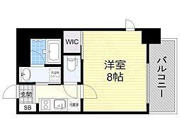 名古屋市営東山線 新栄町駅 徒歩11分の賃貸マンション 5階1Kの間取り