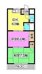 東京都清瀬市中里2丁目の賃貸マンションの間取り