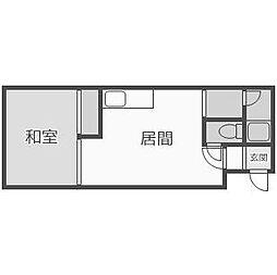 グレースハイム富丘[2階]の間取り