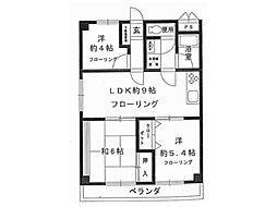 交徳マンション[2階]の間取り