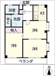 芙実乃郷I[3階]の間取り