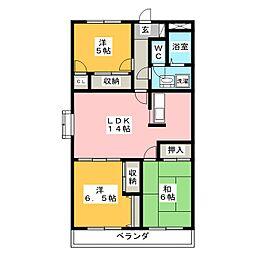 メゾンシャンポール[1階]の間取り