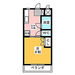 マンションリーフII[1階]の間取り