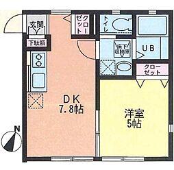HTK湘南台[102号室]の間取り