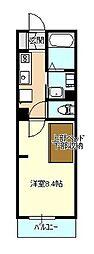 エヌズハウス東橋本II[102号室]の間取り