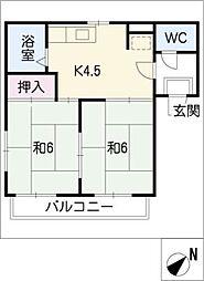 コスモハイツ冨田A棟[1階]の間取り